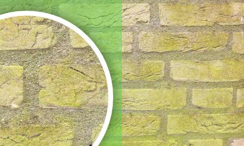 Groene aanslag verwijderen
